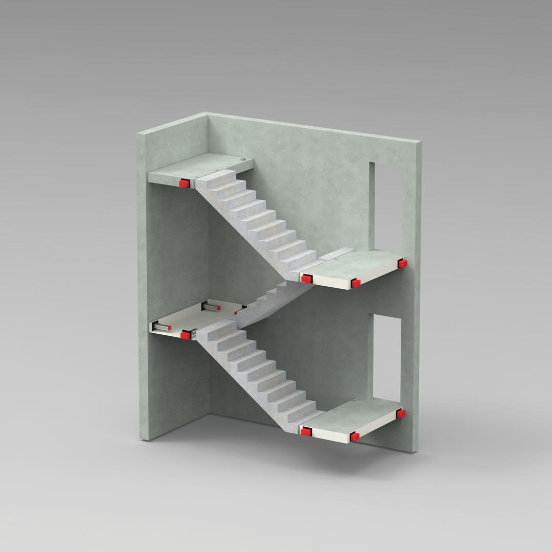 Oparcie dla schodów i podestów TSS INVISIBLE CONNECTIONS<sup>®</sup>